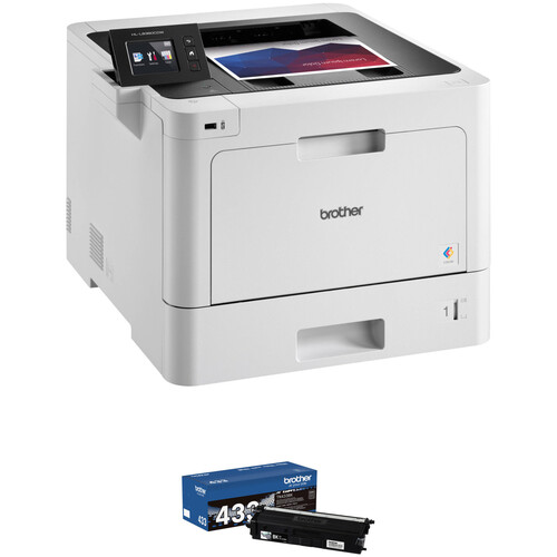 Brother HL-L8360CDW Color Laser Printer with TN433BK High Yield Black Toner Kit
