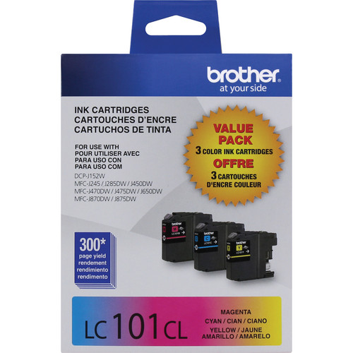 Brother LC101 Innobella Ink Cartridge 3-Color Pack