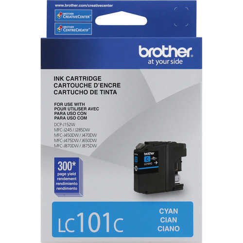 Brother LC101C Innobella Standard Yield Ink Cartridge (Cyan)
