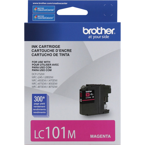 Brother LC101M Innobella Standard Yield Ink Cartridge (Magenta)