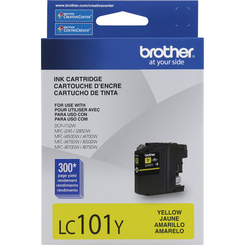 Brother LC101Y Innobella Standard Yield Ink Cartridge (Yellow)
