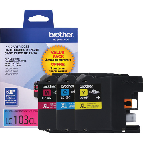 Brother LC1033PKS Innobella High Yield Cyan, Magenta, and Yellow Ink Cartridges