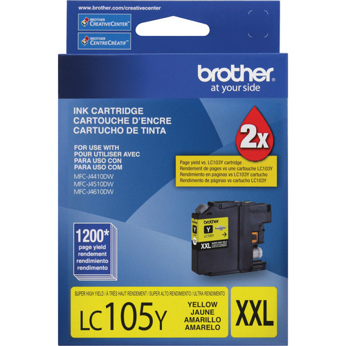 Brother LC105 Innobella Super High Yield XXL Ink Cartridge (Yellow)