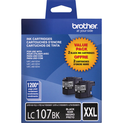 Brother LC1072PKS 2 Innobella Super High Yield Black Ink Cartridges