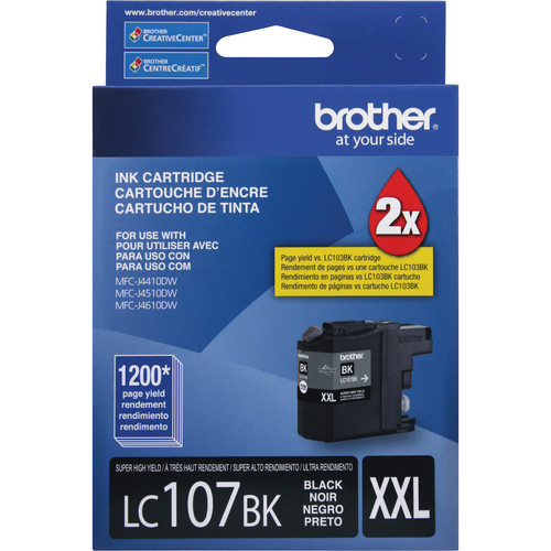Brother LC107BK Innobella XXL Series Super High Yield Black Ink Cartridge