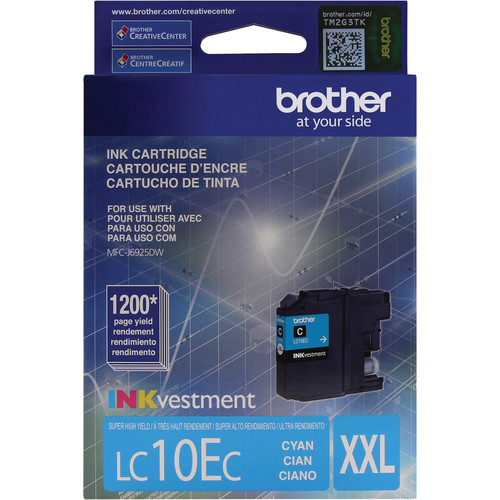 Brother LC10EC INKvestment Super High Yield Cyan Ink Cartridge