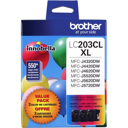 Brother Innobella LC2033PKS High Yield 3-Color Ink Cartridge Set