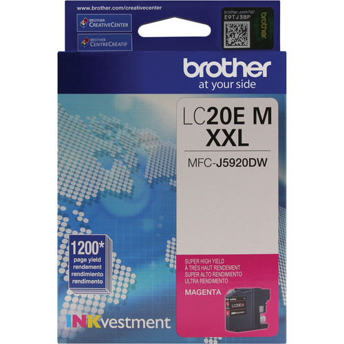 Brother LC20EM INKvestment Super High Yield Magenta Ink Cartridge