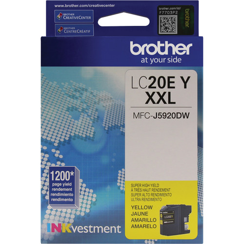 Brother LC20EY INKvestment Super High Yield Yellow Ink Cartridge
