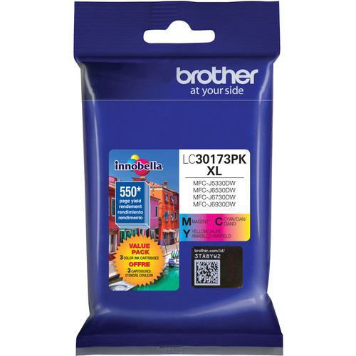 Brother LC30173PK High Yield XL Three Color Ink Cartridge Set
