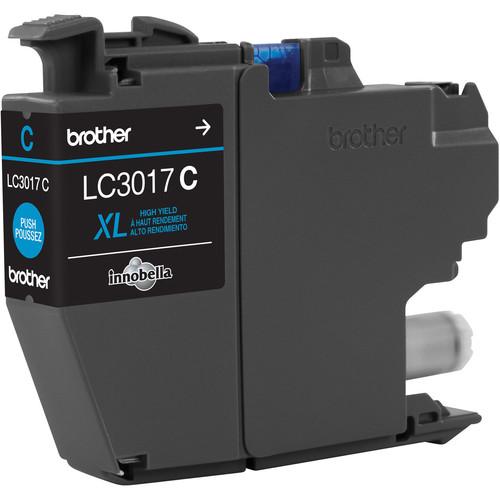 Brother LC3017C High Yield XL Cyan Ink Cartridge