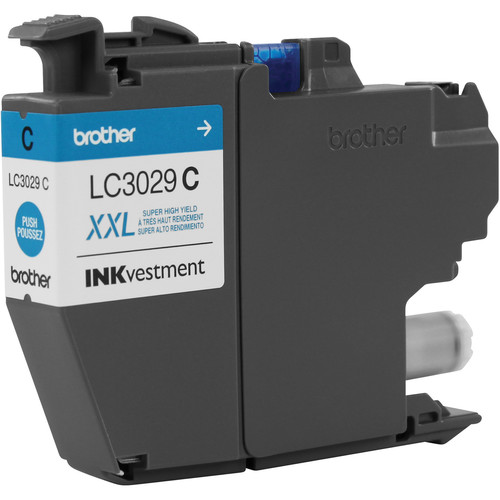 Brother LC3029C Super High Yield INKvestment Cyan Ink Cartridge