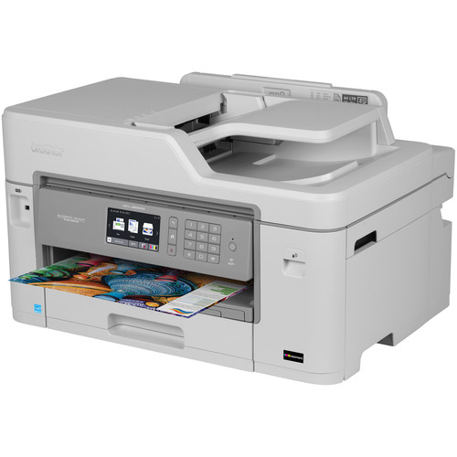 Brother MFC-J5830DW XL Business Smart Plus All-in-One Inkjet Printer with Four Sets of INKvestment Inks