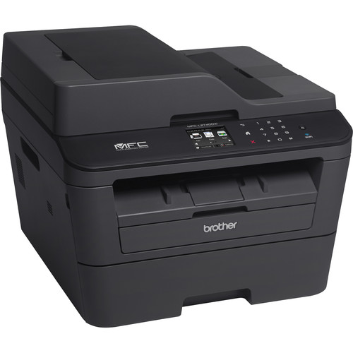 Brother MFC-L2740DW All-in-One Monochrome Laser Printer with High Yield Toner Cartridge Kit