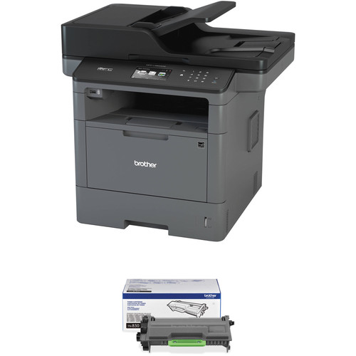 Brother MFC-L5800DW All-in-One Monochrome Laser Printer with High-Yield Toner Cartridge Kit