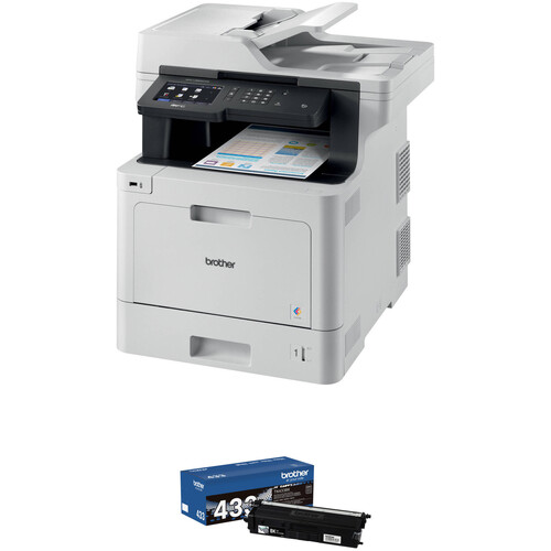 Brother MFC-L8900CDW All-in-One Color Laser Printer with Spare High-Yield Black Toner Cartridge Kit