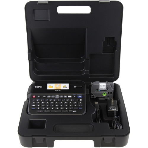 Brother PT-D600 PC-Connectable Label Printer with Hard Carrying Case