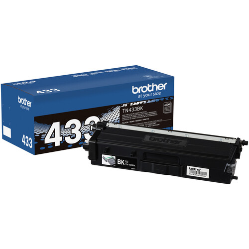 Brother TN433BK Black High-Yield Toner Cartridge
