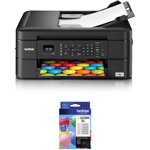 Brother WorkSmart Series MFC-J460DW All-in-One Inkjet Printer with Additional High Yield Black Ink Cartridge Kit