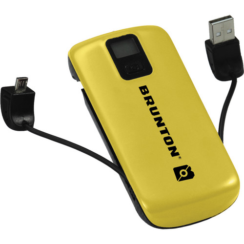 Brunton Metal 4400 Rechargeable Battery Pack (Yellow)