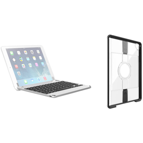 Brydge Bluetooth Keyboard Case & Otter Box uniVERSE Case for iPad Pro 9.7 (Silver, Black/Clear)