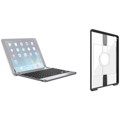 Brydge Bluetooth Keyboard Case & Otter Box uniVERSE Case for iPad Pro 9.7 (Space Gray, Black/Clear)