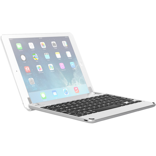 "Brydge 9.7 Bluetooth Keyboard for iPad Air 1/2, Pro 9.7"" & 2017/2018 iPad (Silver)"