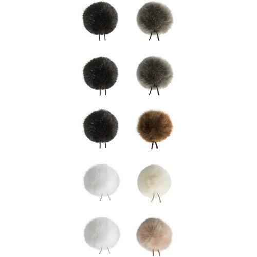 Bubblebee Industries Windbubbles All-Stars Faux-Fur Windscreens for 3 to 4mm Lav Mics (10-Pack)