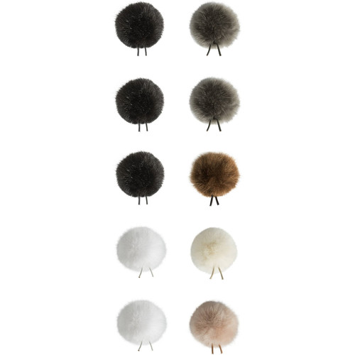 Bubblebee Industries Windbubbles All-Stars Faux-Fur Windscreens for 5 to 8mm Lav Mics (10-Pack)