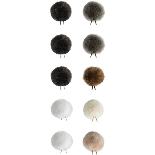 Bubblebee Industries Windbubbles All-Stars Faux-Fur Windscreens for 5 to 9mm Lav Mics (10-Pack)