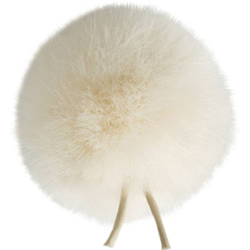 Bubblebee Industries Windbubble Miniature Imitation-Fur Windscreen (Lav Size 4, 42mm, Off-White)