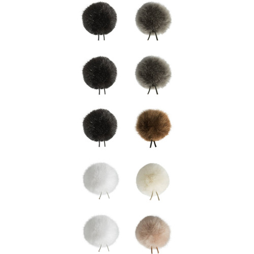 Bubblebee Industries Windbubbles All-Stars Faux-Fur Windscreens for 8 to 13mm Lav Mics (10-Pack)