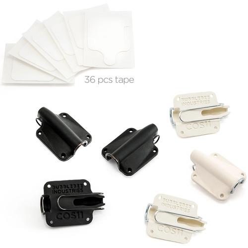 Bubblebee Industries Lav Concealer for Sanken COS-11, 6-Pack (3 of Each Colour)