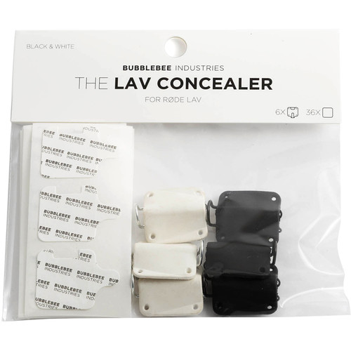 Bubblebee Industries The Lav Concealer for Rode Lav, 6-Pack (3 Of Each Color)