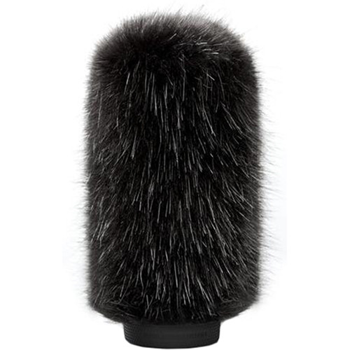 Bubblebee Industries Windkiller Long Fur Slip-On Wind Protector for 18 to 24mm Mics (Large, Black)