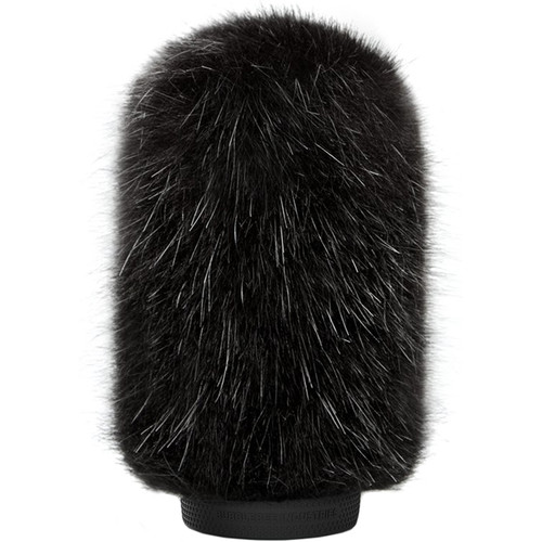 Bubblebee Industries Windkiller Long Fur Slip-On Wind Protector for 18 to 24mm Mics (Medium, Black)
