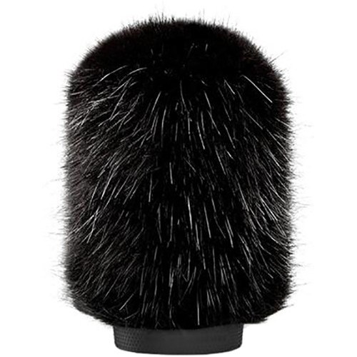 Bubblebee Industries Windkiller Long Fur Slip-On Wind Protector for 18 to 24mm Mics (Small, Black)