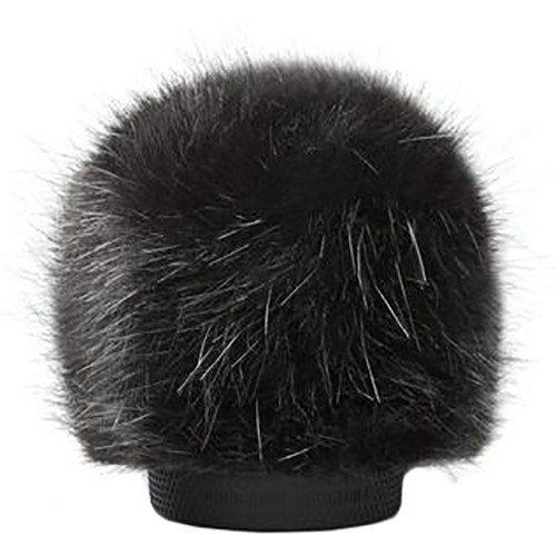 Bubblebee Industries Windkiller Long Fur Slip-On Wind Protector for 23 to 26mm Mics (Extra-Small, Black)