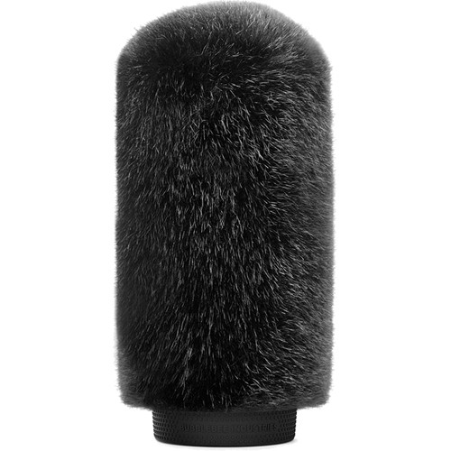Bubblebee Industries Windkiller Short Fur Slip-On Wind Protector for 18 to 24mm Mics (Large, Black)