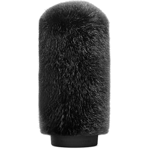 Bubblebee Industries Windkiller Short Fur Slip-On Wind Protector for 18 to 24mm Mics (Medium, Black)