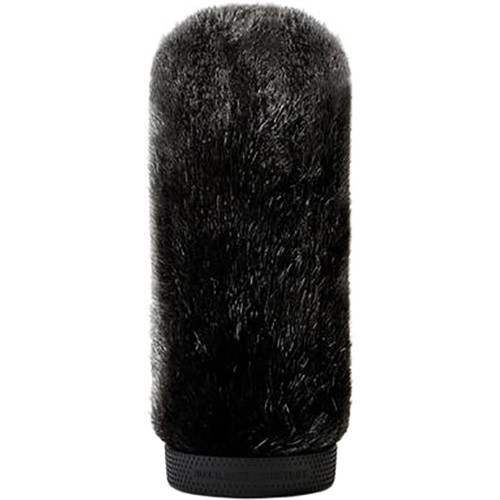 Bubblebee Industries Windkiller Short Fur Slip-On Wind Protector for 18 to 24mm Mics (Extra-Large, Black)