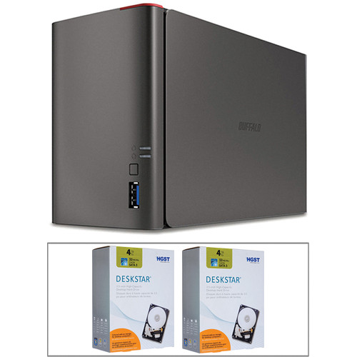 Buffalo 8TB (2 x 4TB) 2-Bay RAID Kit