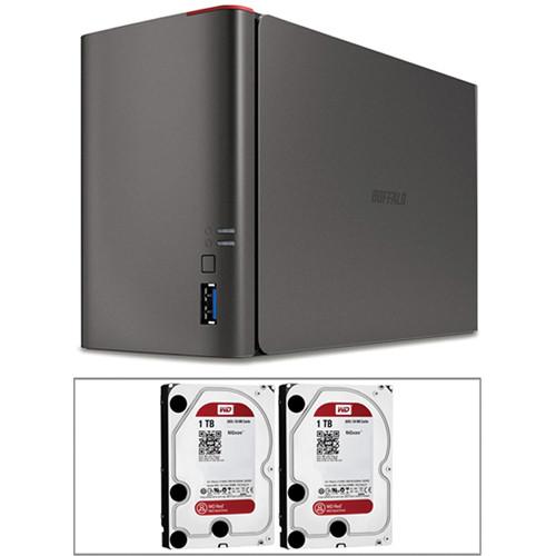 Buffalo 2TB (2 x 1TB) LS421DE LinkStation NAS Enclosure Kit with Drives