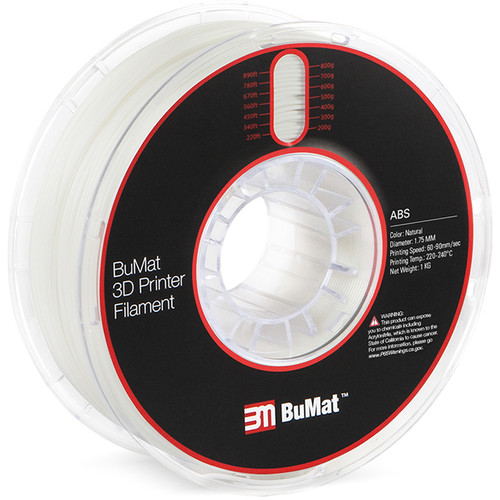 BuMat 1.75mm ABS Filament (1kg, Natural)