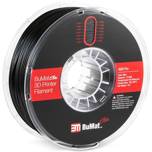 BuMat Elite Professional 1.75mm ABS Filament (Black)