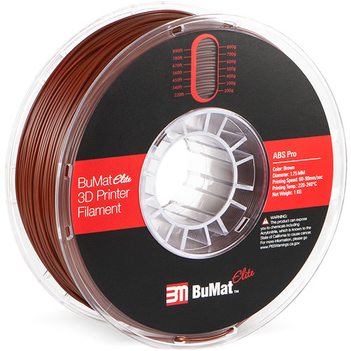 BuMat Elite Professional 1.75mm ABS Filament (Brown)