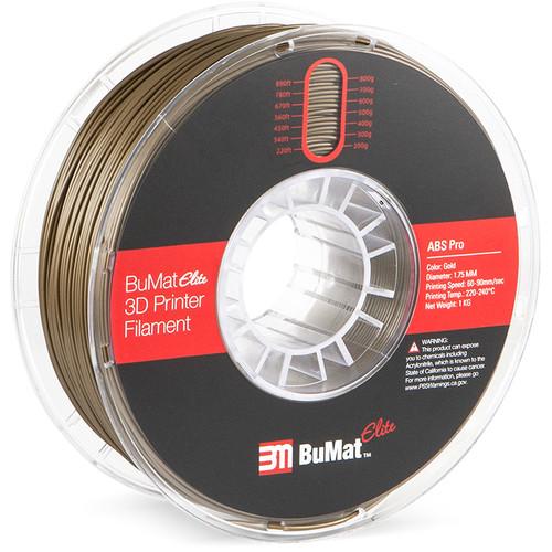 BuMat Elite Professional 1.75mm ABS Filament (1kg, Gold)