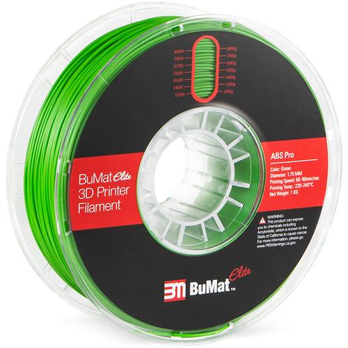 BuMat Elite Professional 1.75mm ABS Filament (Green)