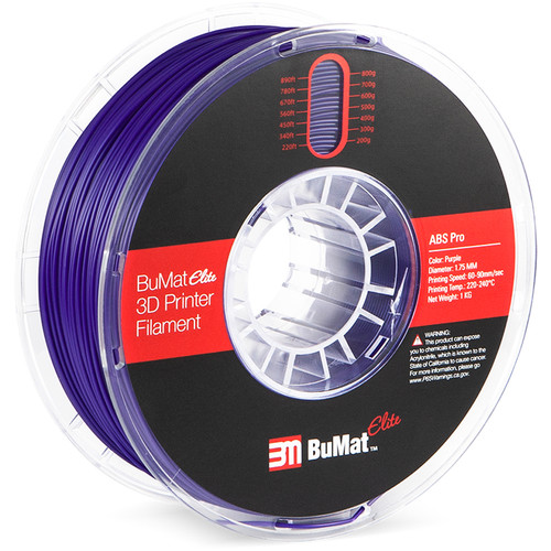BuMat Elite Professional 1.75mm ABS Filament (Purple)