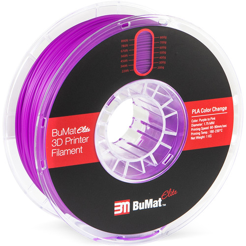 BuMat Elite 1.75mm Color Change by Temperature Filament (1kg, Purple to Pink)